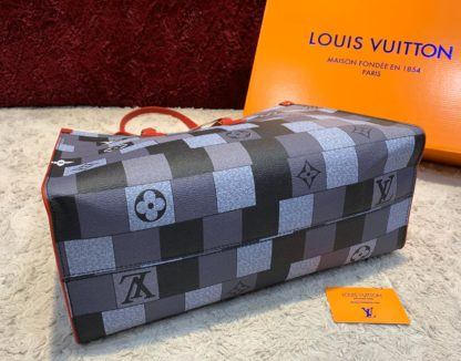 louis vuitton canta on the go gri 41x34 ithal