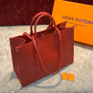 louis vuitton canta on the go kirmizi 41x34 ithal