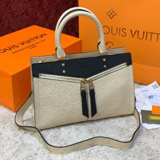 louis vuitton canta sully pm ithal krem 30x22 cm