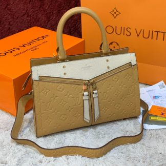 louis vuitton canta sully pm ithal sari krem 30x22 cm