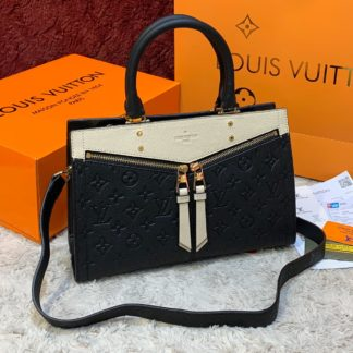 louis vuitton canta sully pm ithal siyah krem 30x22 cm