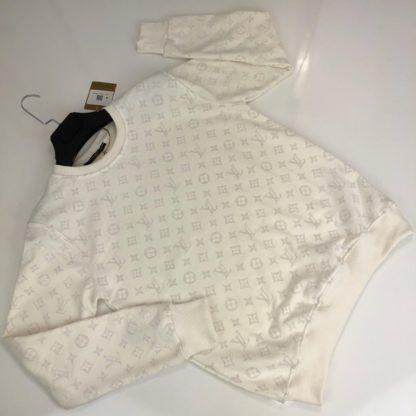 louis vuitton sweatshirt monogram jacquard beyaz monogram