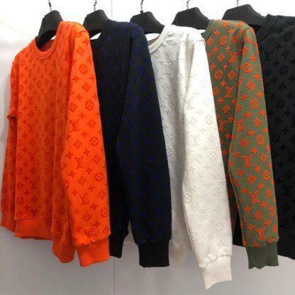 louis vuitton sweatshirt monogram jacquard turuncu monogram