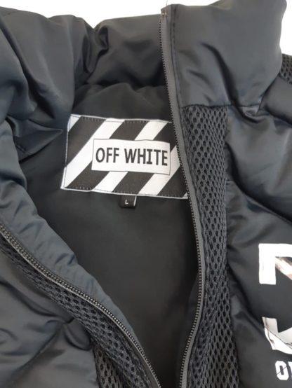 off white yelek gilet erkek siyah microgel