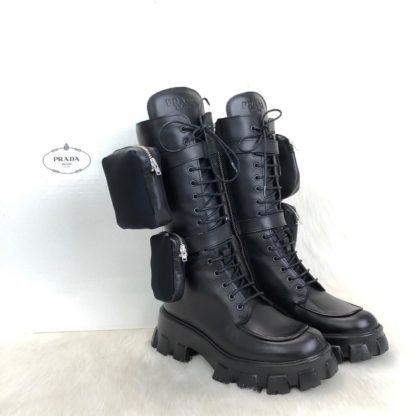 prada ayakkabi monolith siyah deri