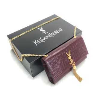 ysl saint laurent canta medium kate tassel bordo gold
