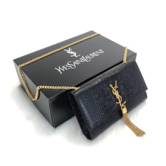 ysl saint laurent canta medium kate tassel siyah gold
