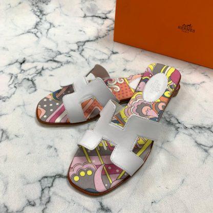 hermes terlik Painted sandalet