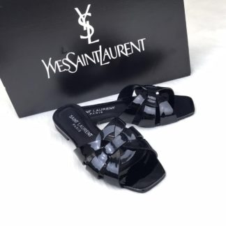 yves saint laurent ysl terlik Tribute Flat rugan siyah
