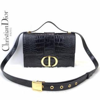 Christian Dior canta 30 montaigne siyah gold aksesuar 24x16x5 cm