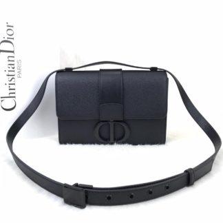 Christian Dior canta 30 montaigne siyah siyah aksesuar 24x16x5 cm