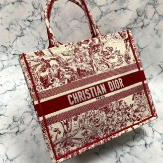 Christian Dior canta Book Tote Oblique bordo 41x32 cm