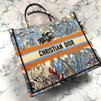 Christian Dior canta Book Tote Oblique islemeli 41x32 cm