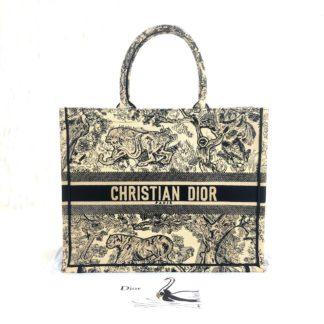 Christian Dior canta Book Tote Oblique krem 41x32 cm