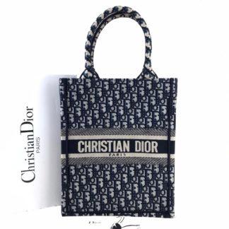 Christian Dior canta Vertical Book Tote full el dokuma siyah 34x27 cm