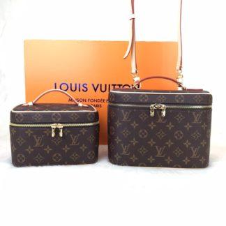 Louis Vuitton canta Nice 2li buyuk ve kucuk 24x18x15cm ve 20x13.5x12 cm