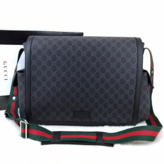 gucci canta anne bebek bag supreme siyah 44x28x14cm