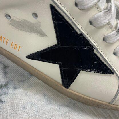 golden goose ayakkabi sneaker superstar beyaz siyah