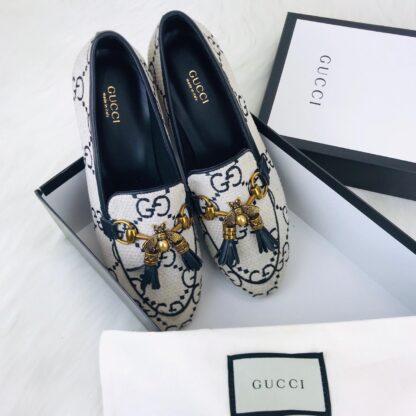 gucci ayakkabi jordaan bee loafer beyaz