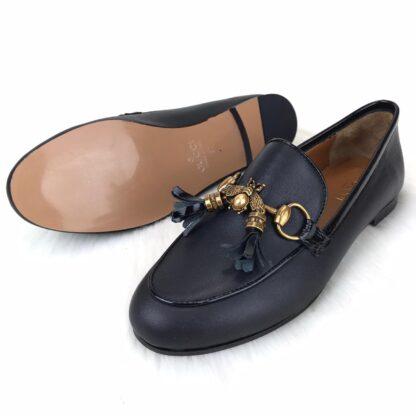 gucci ayakkabi jordaan bee loafer siyah