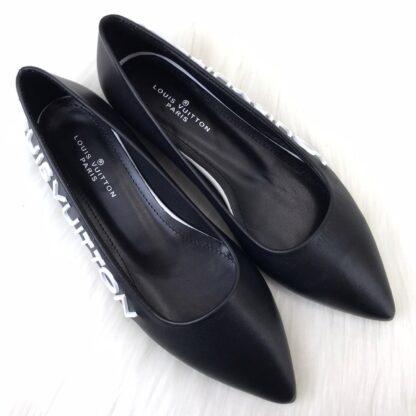 louis vuitton ayakkabi ballerinas babet siyah