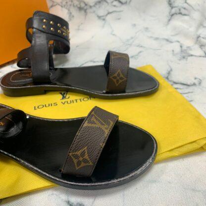 louis vuitton ayakkabi gladiator flat sandalet