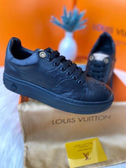 louis vuitton ayakkabi siyah sneaker timeout