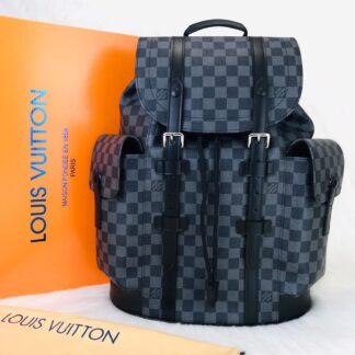 louis vuitton canta christopher backpack sirt damier siyah gri