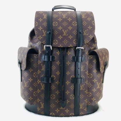 louis vuitton canta christopher backpack sirt kahve monogram