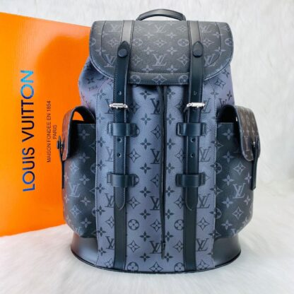 louis vuitton canta christopher backpack sirt siyah gri