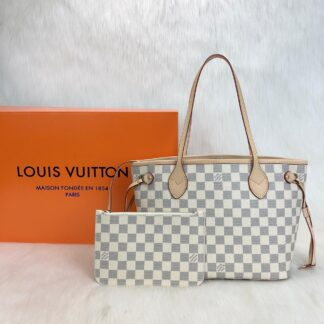 louis vuitton canta neverfull mini boy damier beyaz 29x22x13cm
