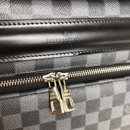 louis vuitton canta siyah gri damier zephyr kabin boy cek cek valiz 55cm
