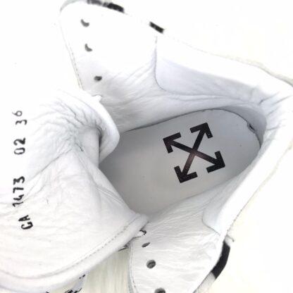 off white ayakkabi sneaker virgil mid top beyaz