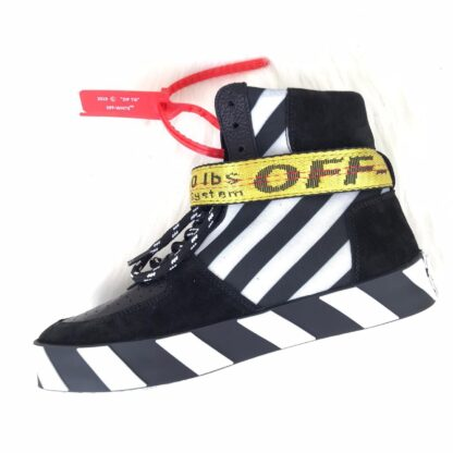 off white ayakkabi sneaker virgil mid top siyah