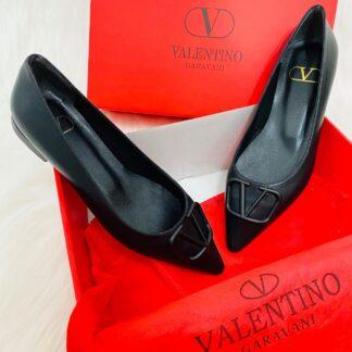valentino ayakkabi garavani vlogo babet siyah