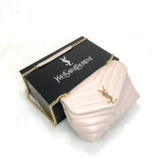 yves saint laurent ysl canta loulou medium pudra pembe gold 28x19cm