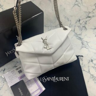 yves saint laurent ysl canta loulou puffer beyaz