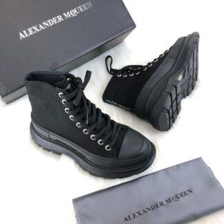 alexander mcqueen ayakkabi tread slick siyah bot
