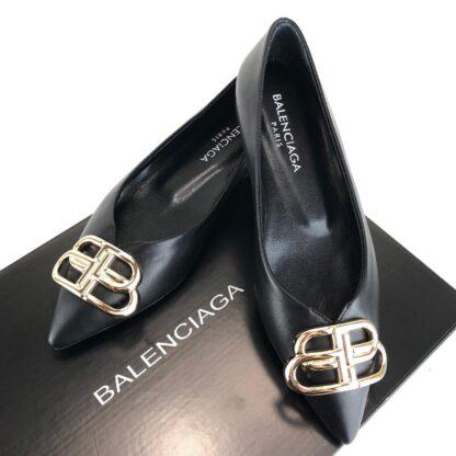 balenciaga ayakkabi siyah babet square knife ballerinas