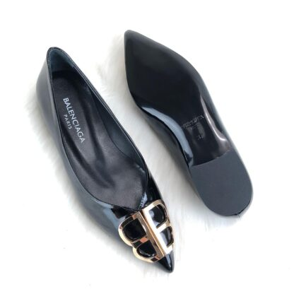 balenciaga ayakkabi siyah babet square knife ballerinas rugan