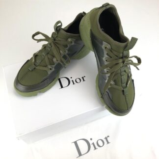 christian dior ayakkabi yesil deri D-Connect Sneaker