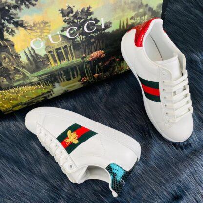 gucci ayakkabi ace embroided sneaker