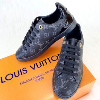 louis vuitton ayakkabi frontrow sneaker siyah
