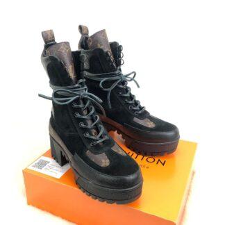 louis vuitton ayakkabi siyah bot laureate platform