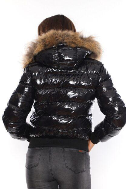 moncler mont beli lastikli siyah parlak yatay desen kapuson QR kod