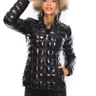 moncler mont parlak siyah kapuson QR kod