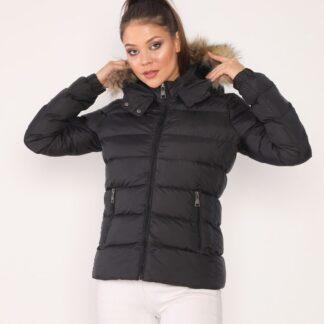 moncler mont siyah mat yatay desen kapuson QR kod