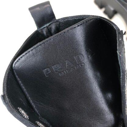 prada ayakkabi siyah bot ankle pouch combat