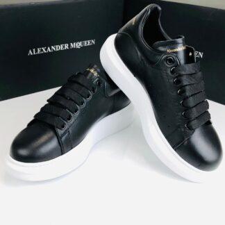 alexander mcqueen ayakkabi erkek sneaker siyah taban beyaz