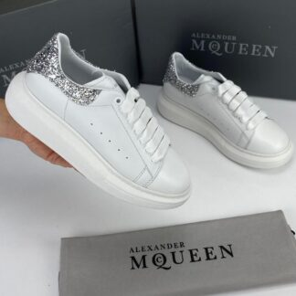 alexander mcqueen ayakkabi sneaker beyaz simli silver